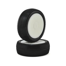 Schumacher U6841  Cactus 2.2 Front 1/10 4wd Buggy Pre-Mounted Carpet Tire (2) (Yellow)