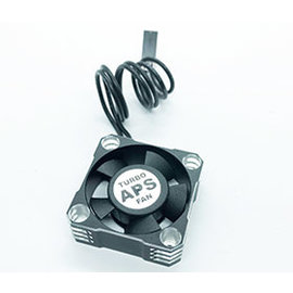 APS Racing APS91168K  Silver & Black Aluminum TURBO28 Cooling Fan 30mm