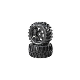 Duratrax DTXC5503  Hatchet X Belted Mounted Tires, 24mm Black (2)