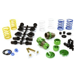 Integy C25910GREEN  Green Anodized XSR11 Competition 52-55mm Racing Shock Kit (2)