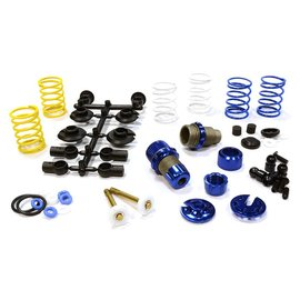 Integy C25910BLUE  Blue Anodized XSR11 Competition 52-55mm Racing Shock Kit (2)