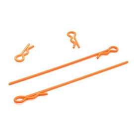 Integy T4047ORANGE  Orange 1/18th Body Clips (4)