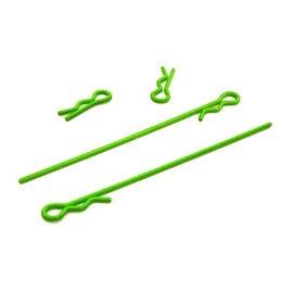 Integy T4047FLUORESCENTGREEN  Fluorescent Green 1/18th Body Clips (4)