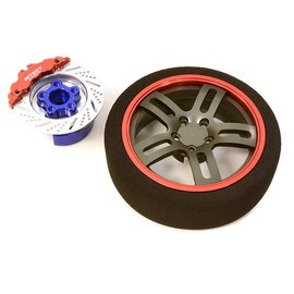 Integy C26907RED  RedBillet Machined Alloy D5 Spoke Steering Wheel Set for Traxxas Radio Transmitter