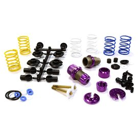 Integy C25910PURPLE  Purple Anodized XSR11 Competition 52-55mm Racing Shock Kit (2)