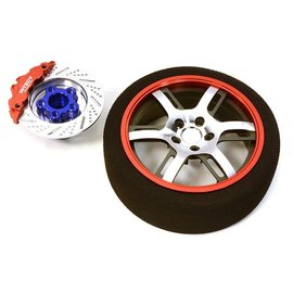 Integy C26911RED  Red Billet Machined Alloy 6 Spoke Steering Wheel Set for Traxxas Radio