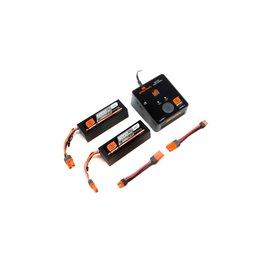 Spektrum SPMXPS6  Smart Powerstage Bundle 6S Two 3S LiPo Battery w/ Charger