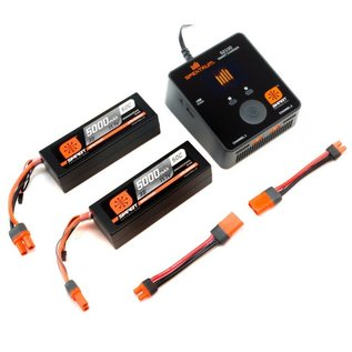Spektrum SPMXPS6  Smart Powerstage Bundle 6S Two 3S LiPo Battery w/ Charger