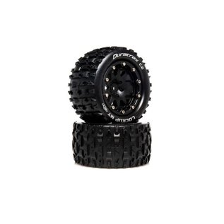 Duratrax DTXC5517  Lockup MT Belted 2.8 2WD Mounted Rear Tires, 0 Offset, Black (2)