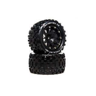 Duratrax DTXC5519  Six Pack MT Belted 2.8 2WD Mounted Rear Tires, 0 Offset, Black (2)