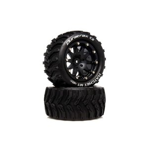 Duratrax DTXC5521  Hatchet MT Belted 2.8 2WD Mounted Rear Tires, 0 Offset, Black (2)