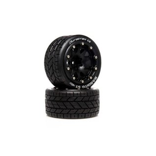 Duratrax DTXC5531  Bandito ST Belted 2.8 2WD Mounted Rear Tires, .5 Offset, Black (2)