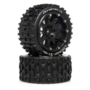 Duratrax DTXC5532  Lockup ST Belted 2.8 2WD Mounted Rear Tires, 0 Offset, Black (2)