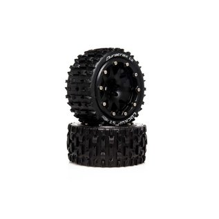 Duratrax DTXC5533  Lockup ST Belted 2.8 2WD Mounted Rear Tires, .5 Offset, Black (2)