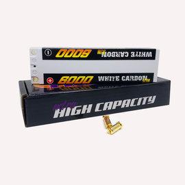 Trinity TEP2317  White Carbon 2S 7.4v 6000mAh 100C Slim LiPo w/ 5mm Bullets