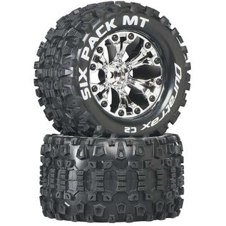 """Duratrax DTXC3523  Chrome Six-Pack MT 2.8"""" 2WD Mounted 1/2"""" Offset Tires (2)"""