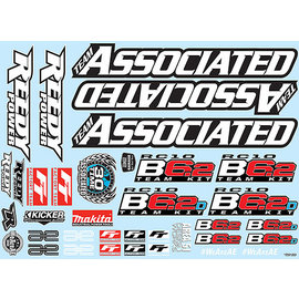 Team Associated ASC91869  Team Associated B6.2 Decal Sheet