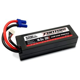 Fantom Racing FAN26046   Fantom 4S 14.8v 5200mAh 130C Low Profile LiPo w/ EC5 Connector