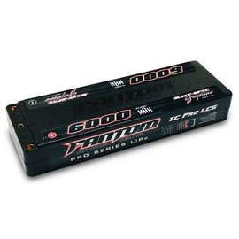 Fantom Racing FAN26040  Fantom 2S 7.4v 6000mAh 130C Low Profile LiPo w/ 5mm Bullets