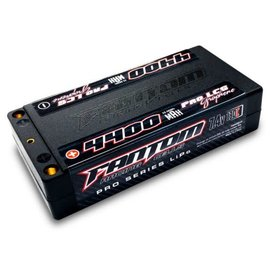 Fantom Racing FAN26034  Fantom 2S 7.4v 4400mAh 130C Low Profile LiPo Shorty 5mm Bullets
