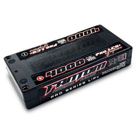 Fantom Racing FAN26033  Fantom 2S 7.4v 4000mAh 130C Low Profile LiPo Shorty 4mm Bullets