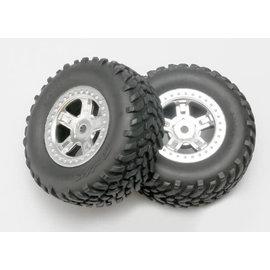 Traxxas TRA7073  1/16 Slash Prerunner Satin Chrome SCT Off-Road Pre-Mounted Tire (2)