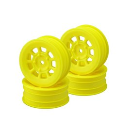 J Concepts JCO3397Y  Yellow 9 Shot 2.2″ Front Wheel (4) B6.1, B6.2 | YZ2 | XB2 | RB7 | KC, KD