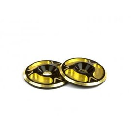 Avid RC AV10012-DGLD  Dual Black / Gold HD Triad Wing Buttons