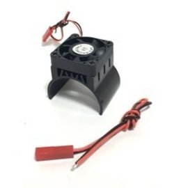 APS Racing APS91146KV3  Alum. Motor Heatsink Ver. 3 w/SUPER Cooling Top Fan for 540 Motor Black