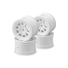 J Concepts JCO3398W  White 9 Shot 2.2″ Rear Wheel (4)  B6.1, B6.2, B74 | YZ2, YZ4 | XB2, XB4 | RB7, ZX7 | SRX-2, SDX-4 | KC, KD, L1 | D418, 2.2
