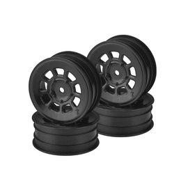J Concepts JCO3398B  Black 9 Shot 2.2″ Rear Wheel (4)  B6.1, B6.2, B74 | YZ2, YZ4 | XB2, XB4 | RB7, ZX7 | SRX-2, SDX-4 | KC, KD, L1 | D418, 2.2