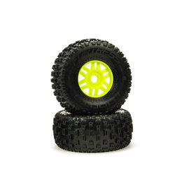 Arrma ARA550068  DBoots Green 'Fortress' Tyre Set (2)