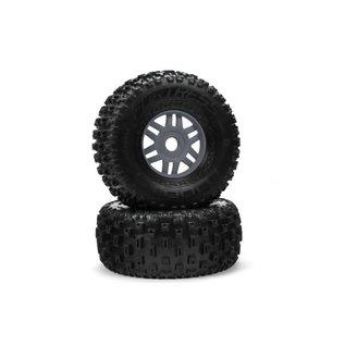 Arrma ARA550069  1/8 dBoots Gunmetal Fortress Front/Rear 2.4/3.3 Tires (17mm Hex)