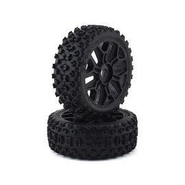 Arrma AR550057  2HO Tire Set Glued, Black (2)  ARA550057