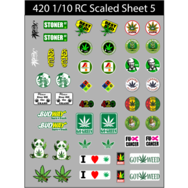 Michaels RC Hobbies Products RCS420-S5  RC Scaled 420 decals stickers sheet #5