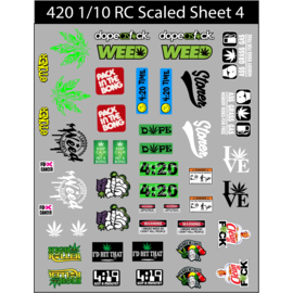Michaels RC Hobbies Products RCS420-S4  RC Scaled 420 decals stickers sheet #4