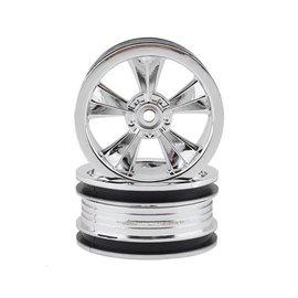 "RPM R/C Products RPM81553  RPM Chrome ""N2O"" Resto-Mod Sedan Wheels (2)"
