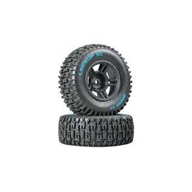 Duratrax DTXC3670  Black Front Lockup SC Tire C2 Mounted (2) Slash