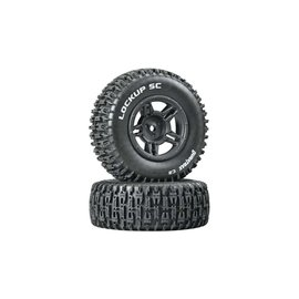 Duratrax DTXC3671  Black Rear Lockup SC Tire C2 Mounted (2) Slash