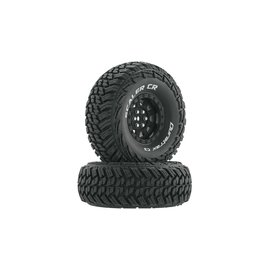 "Duratrax DTXC4022  Black Scaler CR C3 Mounted 1.9"" Crawler Tires (2)"