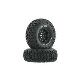 """Duratrax DTXC4022  Black Scaler CR C3 Mounted 1.9"""" Crawler Tires (2)"""