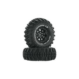 "Duratrax DTXC4026  Black Deep Woods CR C3 Mounted 1.9"" Crawler Tires (2)"