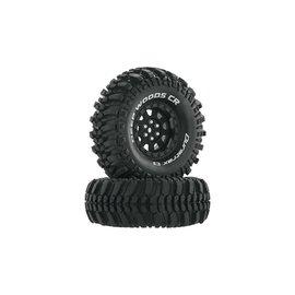 "Duratrax DTXC4026  Black Deep Woods CR C3 Mounted 1.9"" Crawler Tires (2)"