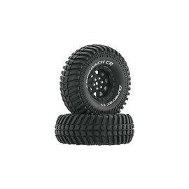 "Duratrax DTXC4030  Black Approach CR C3 Mounted 1.9""Crawler Tires (2)"