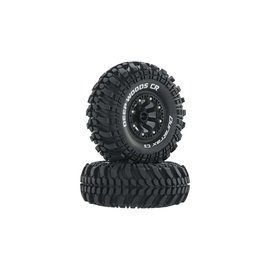 "Duratrax DTXC4042  Black Deep Woods CR C3 Mounted 2.2"" Crawler Tires (2)"