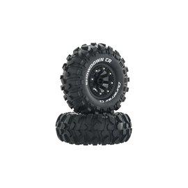 "Duratrax DTXC4050  Black Showdown CR C3 Mounted 2.2"" Crawler Tires (2)"