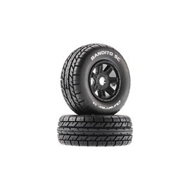 Duratrax DTXC5270  Black Bandito SC Mounted Soft Tires 17mm Hex (2)