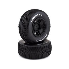 Duratrax DTXC3679  1/10 Lineup SC Tire C2 Mounted Rear: Slash (2)