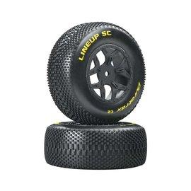 Duratrax DTXC3683  Lineup 1/10 SC Tire C2 Mounted Tires: SCTE 4x4 (2)