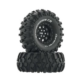 "Duratrax DTXC4034  Black Showdown CR C3 Mounted 1.9"" Crawler Tires (2)"